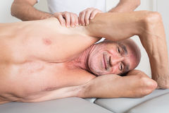 Having fun during physiotherapeutic treatment Stock Images