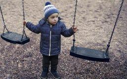 Having fun in the playground royalty free stock photos