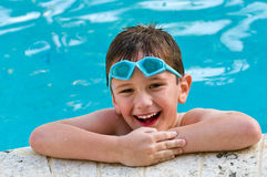 Having fun in the pool Royalty Free Stock Photo
