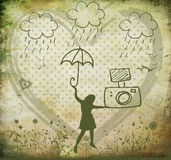 Having fun in rain Royalty Free Stock Photography