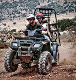 Having fun with sand buggy royalty free stock photo