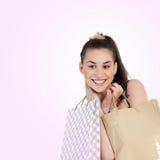 Having Fun Shopping Stock Photography