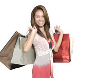 Having fun shopping Stock Images