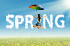 Having fun on spring Royalty Free Stock Photo