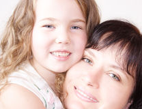 Having fun together. Mother and daughter happiness, having fun together Stock Photography