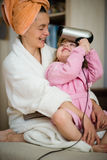Having fun together - mother and child Stock Image