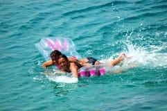 Having fun in water Stock Image