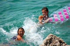 Having fun in water Royalty Free Stock Images