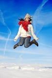 Having fun in winter scene Royalty Free Stock Photo