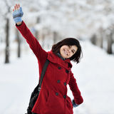 Having fun in winter scene Royalty Free Stock Images
