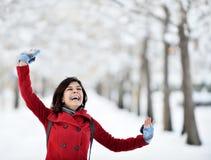 Having fun in winter scene Stock Photos