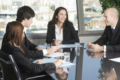 Having fun at work during a job meeting Royalty Free Stock Photo
