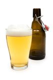 Having a Glass of Beer Stock Photography