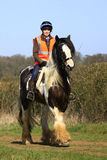 Having a good time. Young woman out on a pleasure ride through the countryside Stock Photos