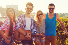 Having good time together. Royalty Free Stock Photos