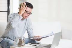 Having a hard time paying bills. Royalty Free Stock Photos