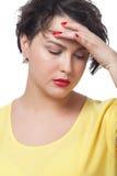 having headache woman Στοκ εικόνα με δικαίωμα ελεύθερης χρήσης