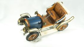 Antique tin old model car stock photography