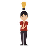 Having an idea. Man having a bright idea, innovative businessman. Eureka Royalty Free Stock Photos