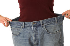 Having lost a lot of weight Stock Image