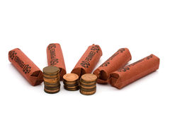 Having a lot of money spare change Stock Images
