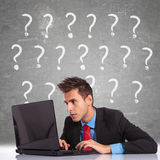 Having lots of questions Royalty Free Stock Photos