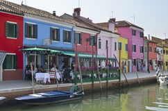 Having lunch in Burano Royalty Free Stock Images