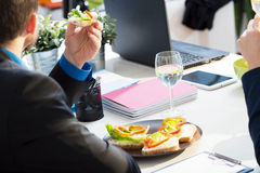 Having a lunch Stock Photography