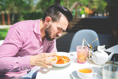 Having a lunch outside Royalty Free Stock Photo