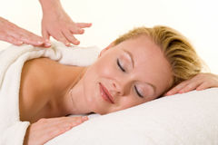 Having a massage Stock Photography