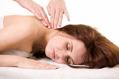 Having a massage Royalty Free Stock Photo