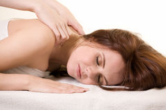 Having a massage Stock Images