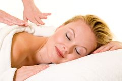 Having a massage Royalty Free Stock Images