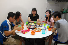 Having Meals, Steamboat Royalty Free Stock Images