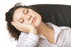 Having a nap. Businesswoman having a nap Royalty Free Stock Image