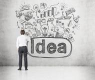 Having a new idea Stock Image
