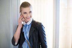 Having nice phone conversation Royalty Free Stock Images
