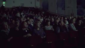 Having nice time in the cinema stock video