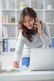 Having phone call Stock Photography