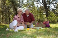 Having a picnic Stock Image