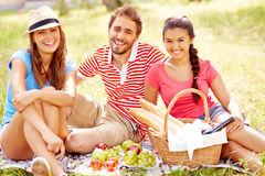 Having picnic Stock Photos