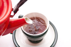 Having poured hot water Stock Photo
