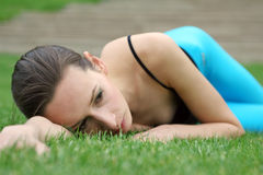 Having Rest After Fitness Stock Photography