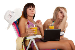 Having a rest girls Royalty Free Stock Image