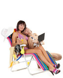 Having a rest girls Royalty Free Stock Images