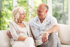 Having romance in old age Stock Images