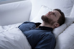 Having sleep disorders Stock Photos
