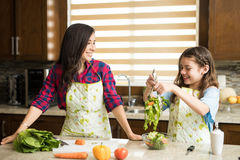 Having some fun in the kitchen Stock Image