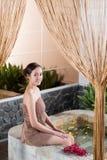 Having spa procedures Stock Photo