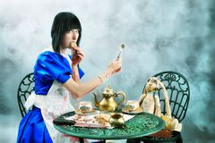 Having a tea Royalty Free Stock Photography
